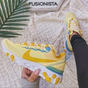 NWT 🍭 Rare Nike React Element 55 Yellow 7W